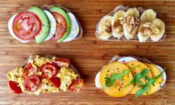 Foto de las 4 tostadas. Una pinta estupenda