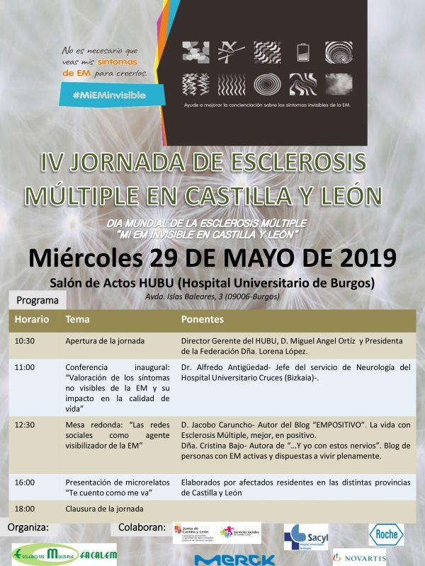 IV Jornada de Esclerosis Múltiple en Castilla y León ( Burgos 29 de mayo)